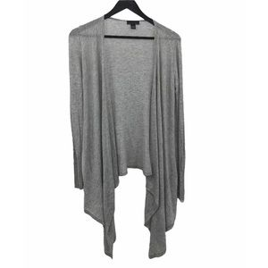 LINE Gray Modal and Cashmere Open Front Cardigan